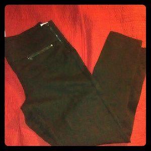 Black zipper Zara leggings mid rise XL
